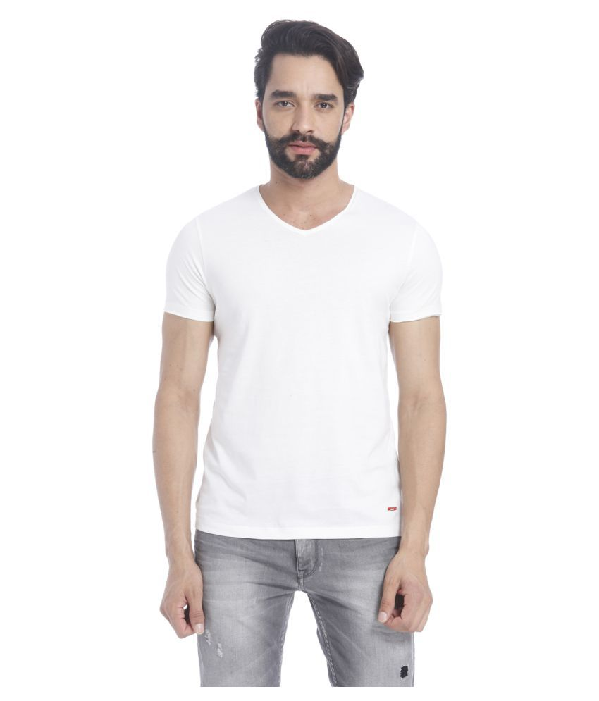 Jack & Jones White V-Neck T-Shirt
