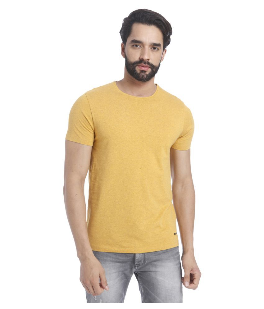 Jack & Jones Yellow Round T-Shirt