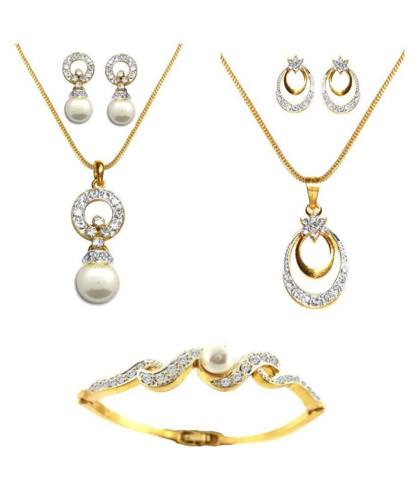 DG Jewels Multicolor Pendant Sets - Pack of 2 with Bracelet