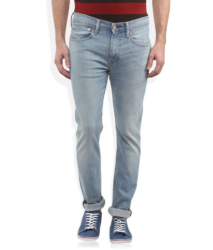 Levis Blue 519 Skinny Fit Jeans