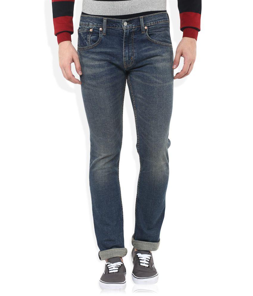 Levis Blue 65504 Skinny Fit Jeans