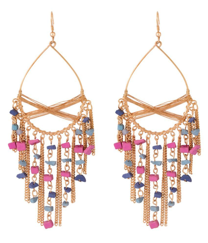 Voylla Multicolour Chandelier Earrings