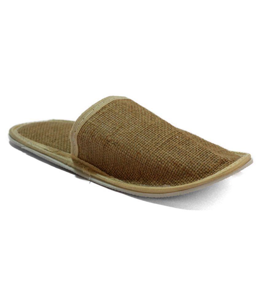Brown Village Brown Slippers