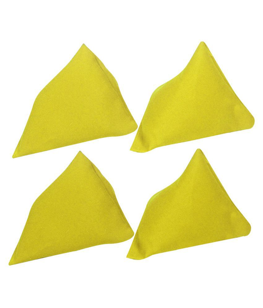 GSI Yellow Cotton Pyramid Toss Bean Bags   Pack of 4 available at SnapDeal for Rs.235