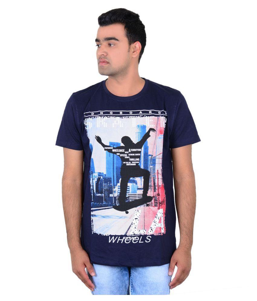 Zeba Corp Blue Round T-Shirt