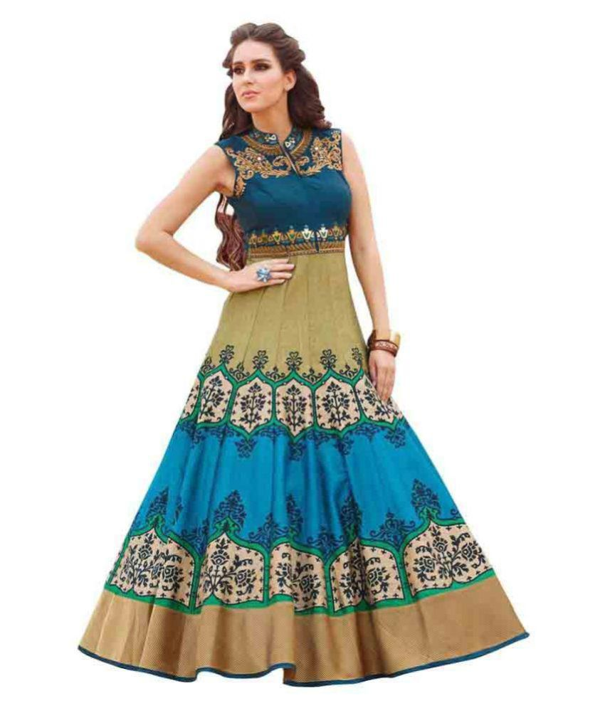 Awesome Multi Color Poly Silk Gown Price in India | Buy Awesome ...