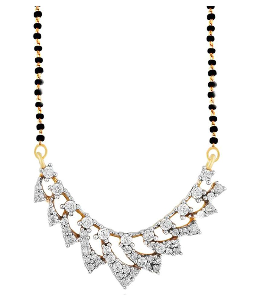 Gili 18k BIS Hallmarked Yellow Gold Diamond Mangalsutra