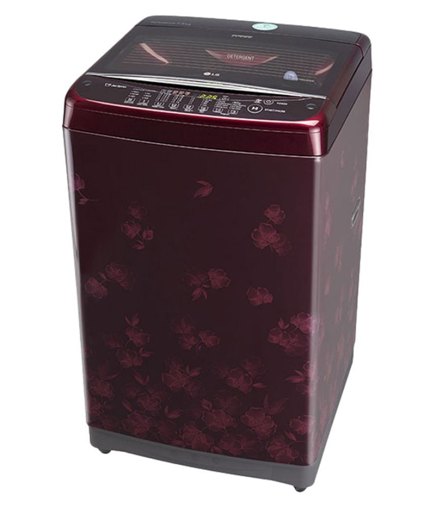 Image result for LG 7 Kg T8077TEELX Fully Automatic Top Load Washing Machine Dark Red