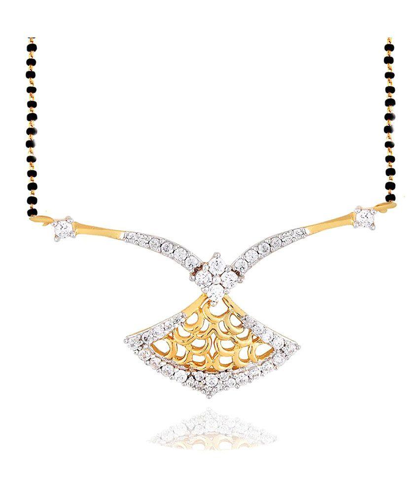 Nirvana 18k Yellow Gold Diamond Mangalsutra