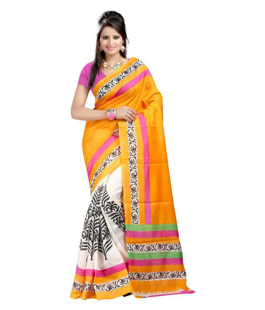 Shopo World Multicoloured Bhagalpuri Silk Saree