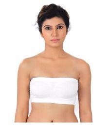 RoZiy White Cotton Lycra T-Shirt/ Seamless Bra
