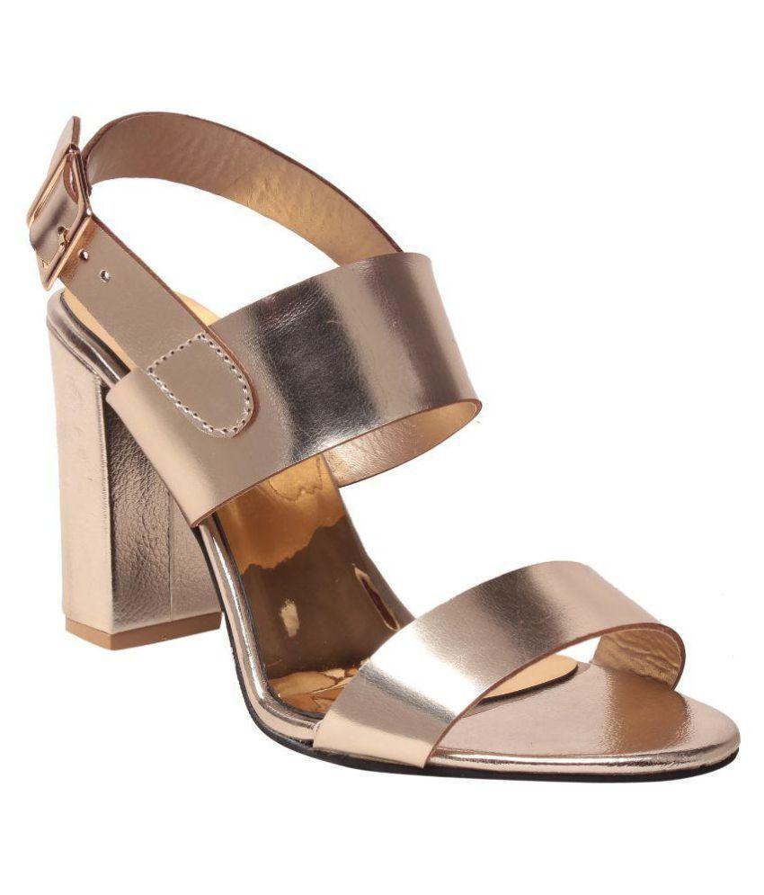 MSC Gold Block Heels