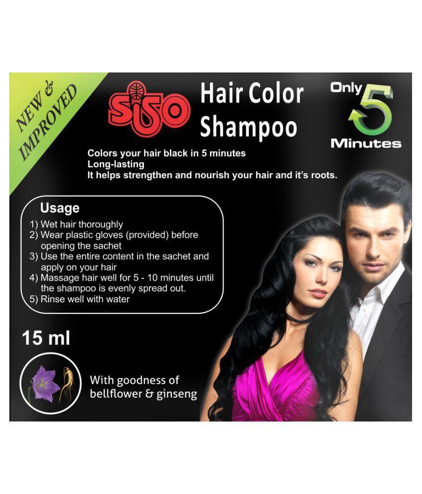 SISO Temporary Hair Color Black 15 ml Pack of 20: Buy SISO Temporary ...