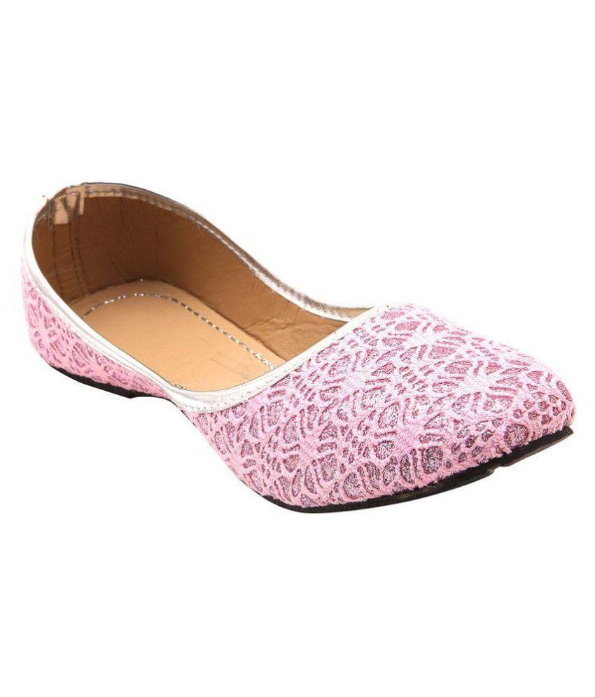 Stylo Footwear Pink Flat Ethnic Footwear