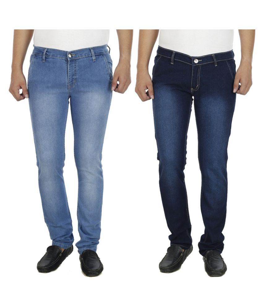 AtLast Blue Slim Faded Jeans - Pack of 2
