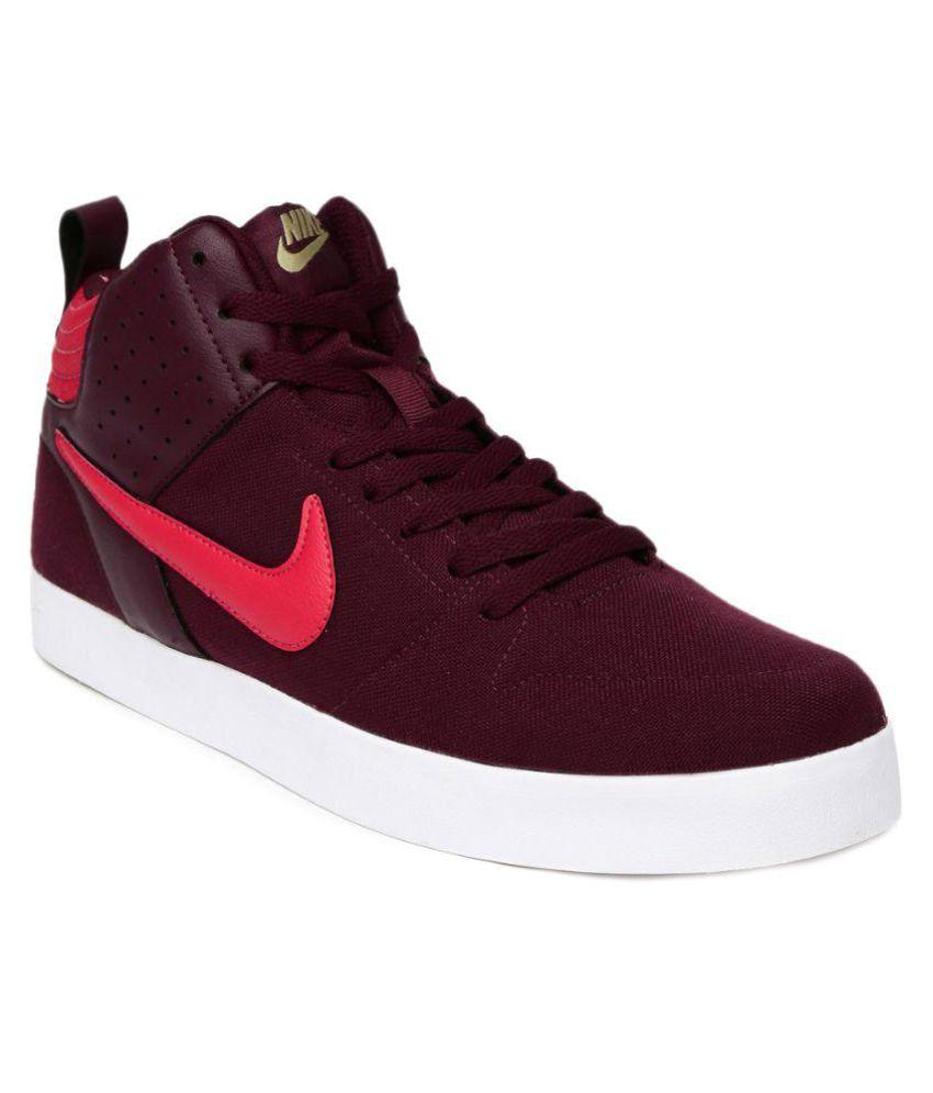 Nike Nike Liteforce III Mid Sneakers Maroon Casual Shoes - Buy Nike Nike  Liteforce III Mid Sneakers Maroon Casual Shoes Online at Best Prices in  India on ... 3a42a1758