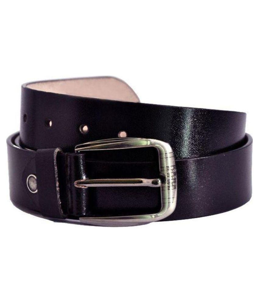 Oodi Black Leather Casual Belts