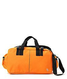 WalletsNBags Orange Solid Duffle Bag