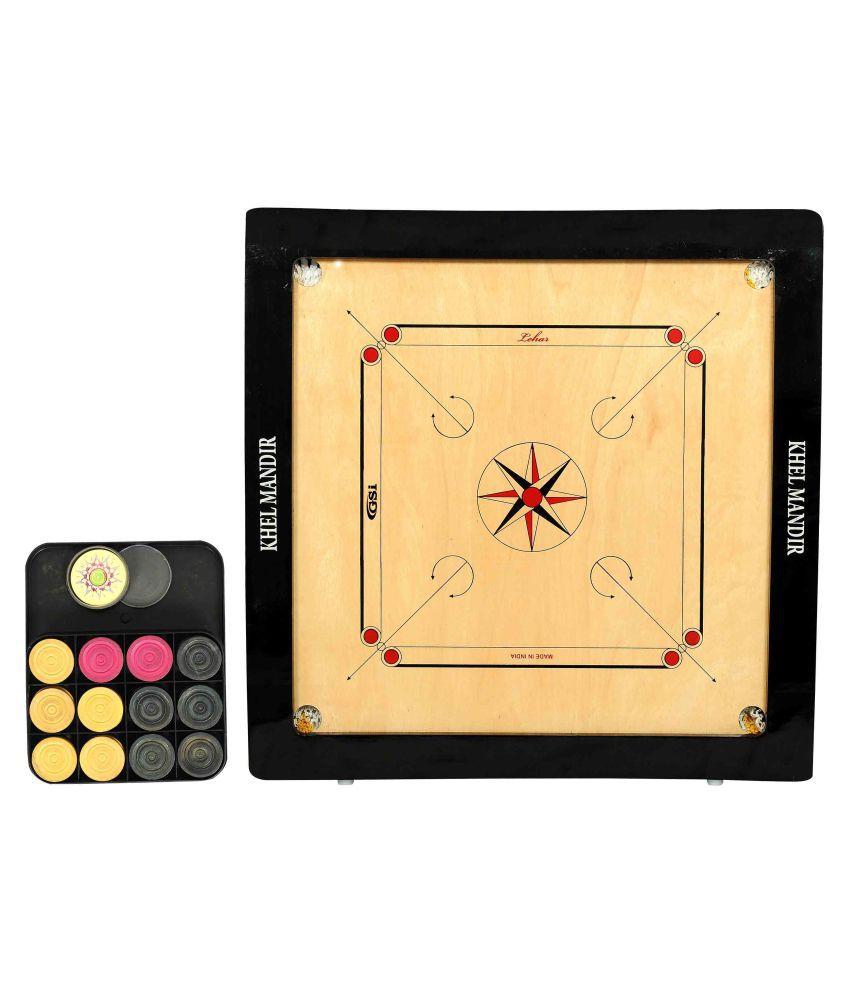 GSI Multicolour Carrom Board with Coins