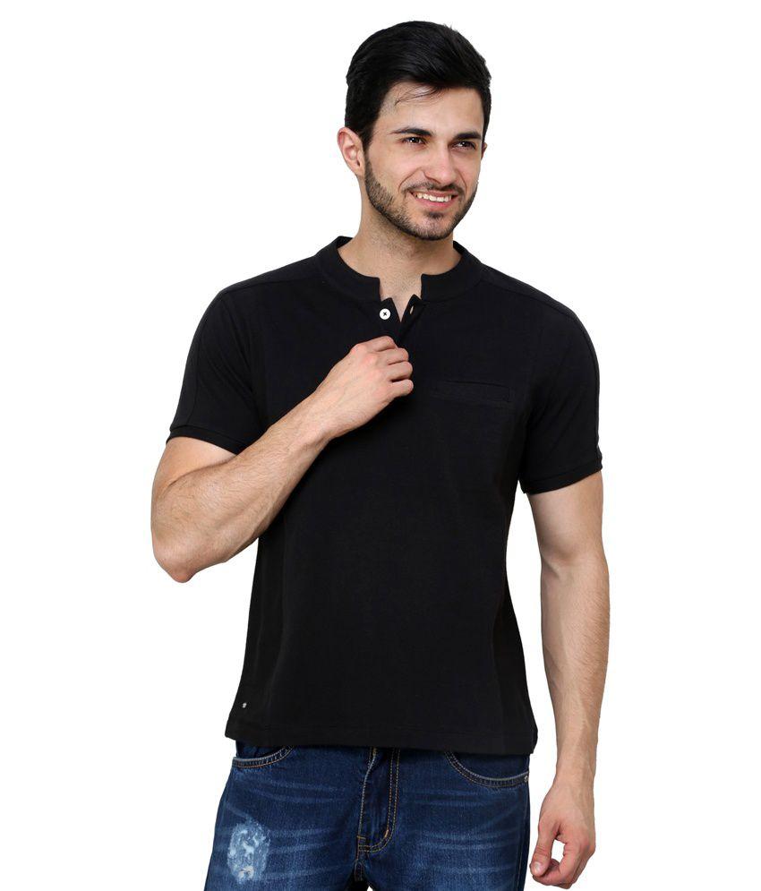 Camino Black Henley T-Shirt