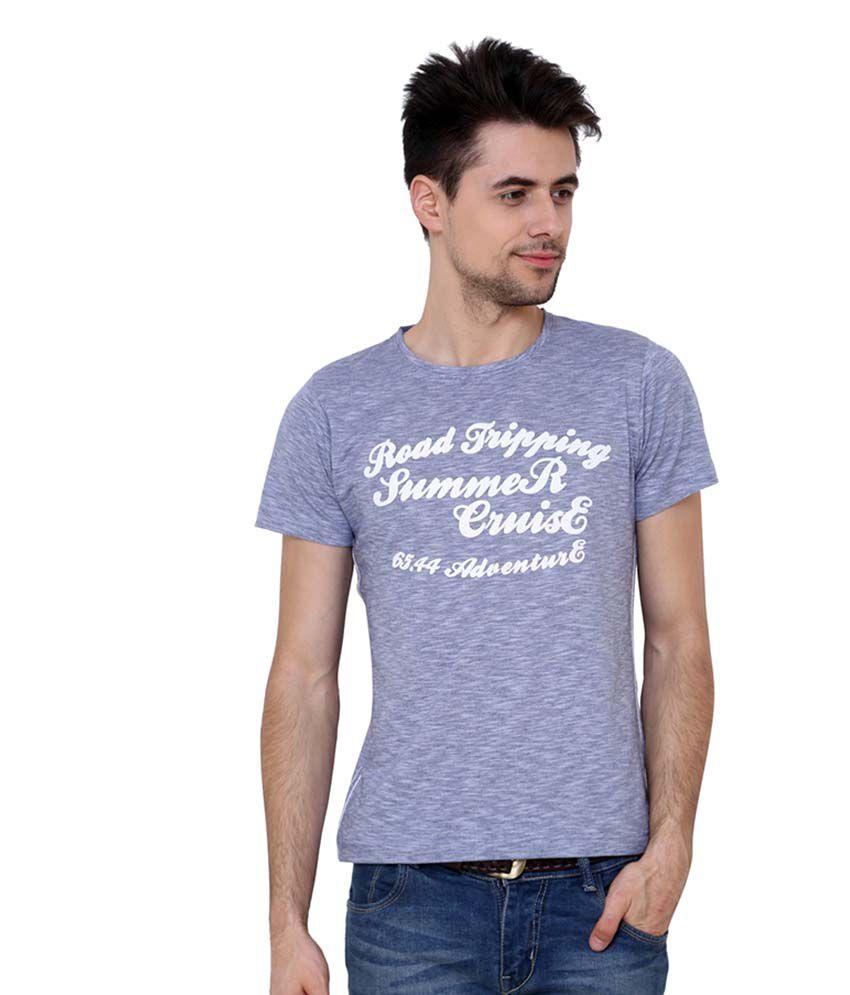 Camino Blue Round T-Shirt