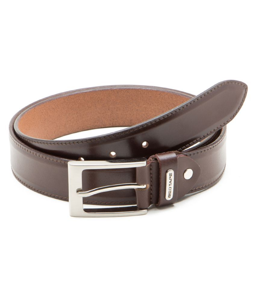 Red Tape Brown Leather Casual Belts