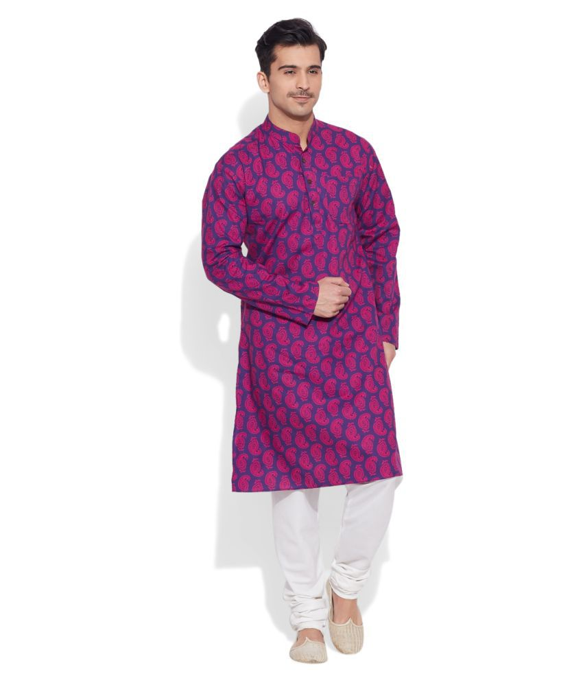 Very Me Purple Cotton Kurta