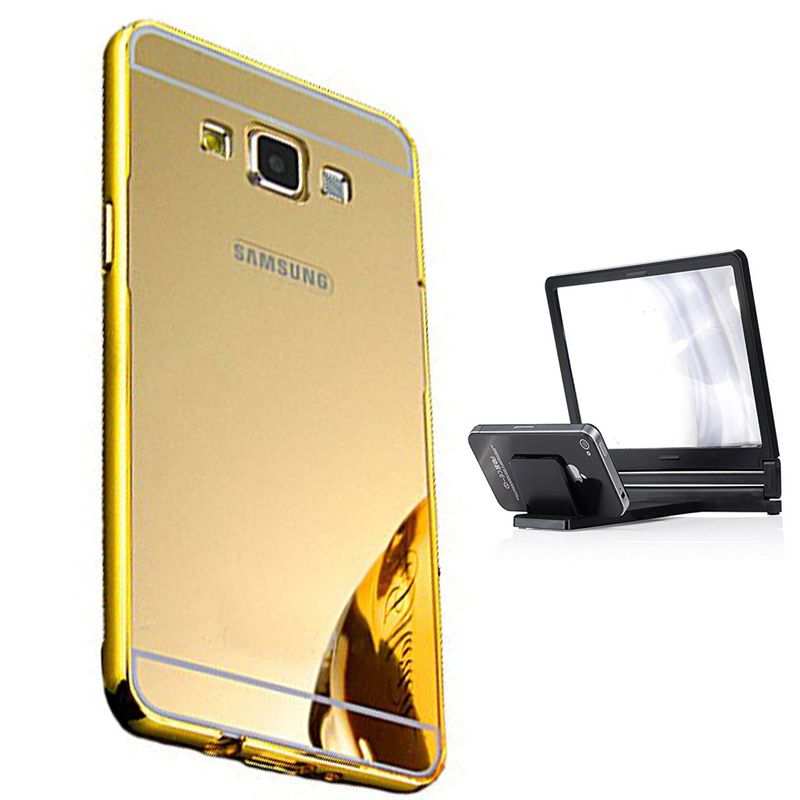 Mirror Back Cover For Samsung Galaxy A5 + 3d magnifier mobile holder free by Style Crome.