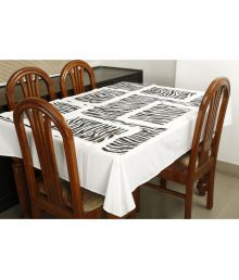Dekor World 6 Seater Cotton Set Of 7 Table Cover & Table Mats