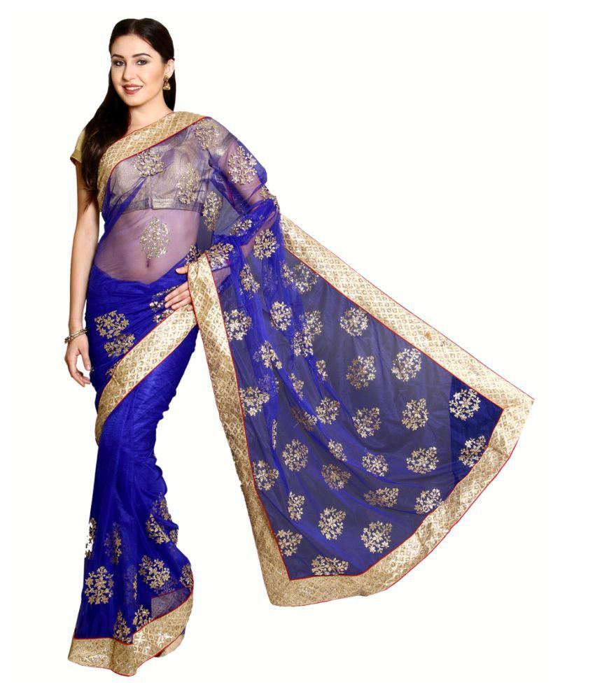 Aryahi Blue Net Saree