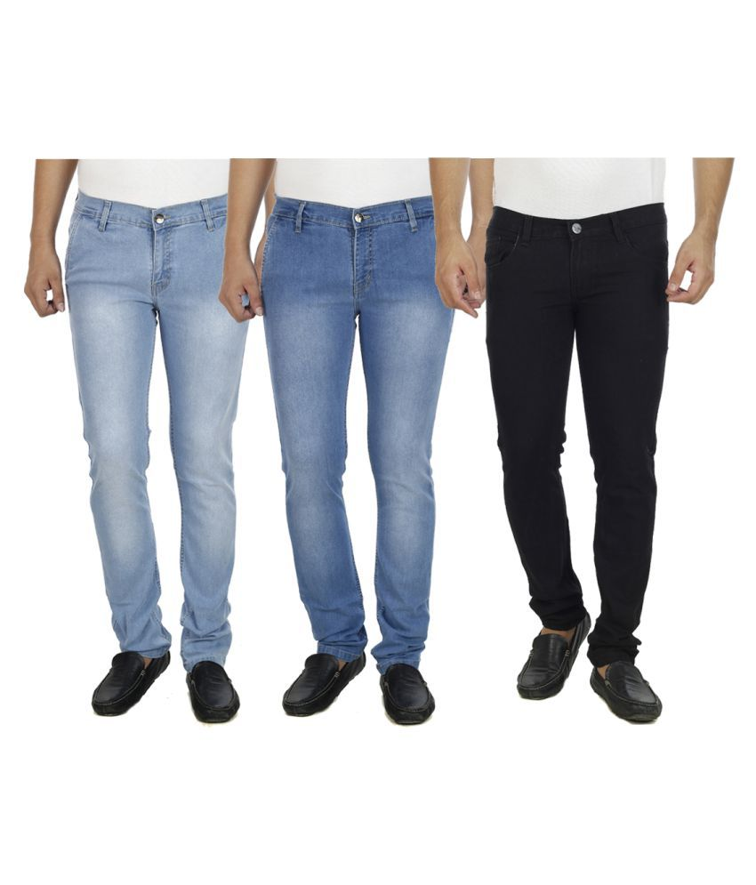 Atlast Multicolored Slim Washed Jeans