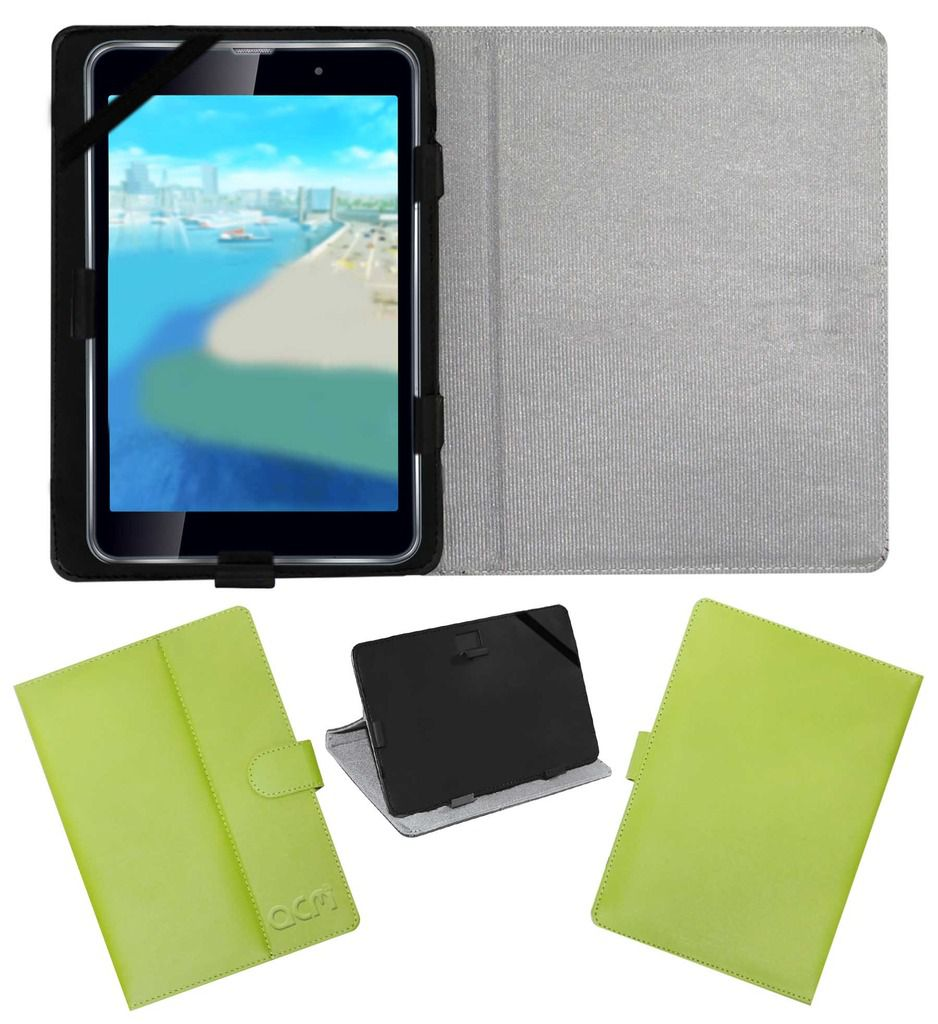 Iball Slide Wings Leather Flip Case By ACM Green