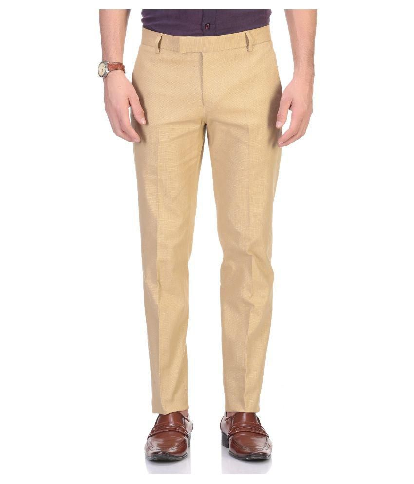 Aragon Khaki Regular Flat Trouser