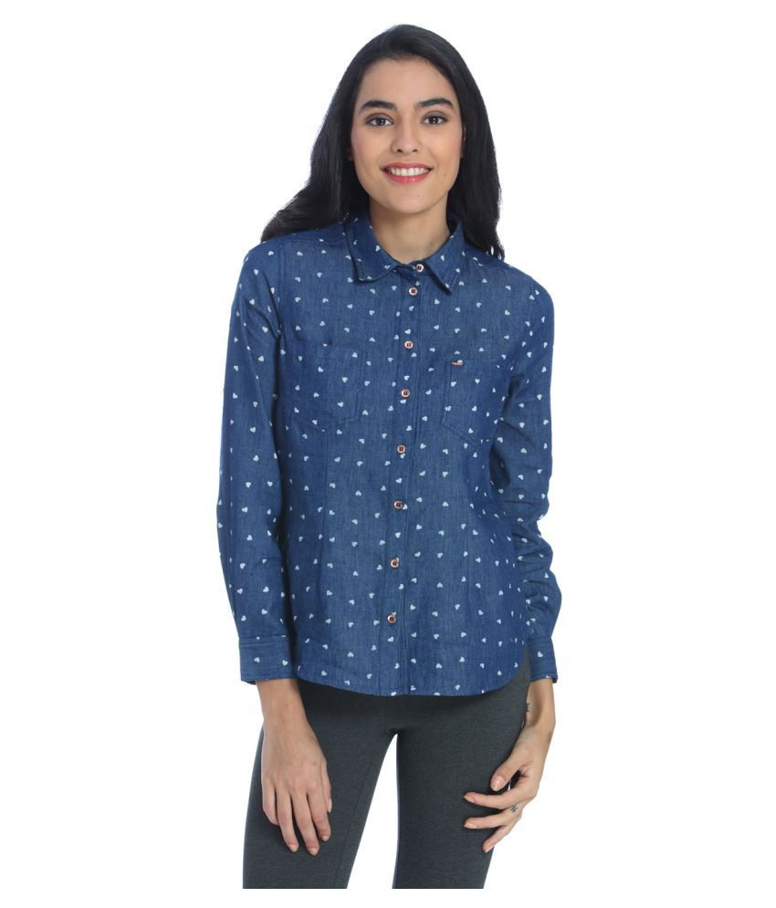 Only Blue Cotton Shirt