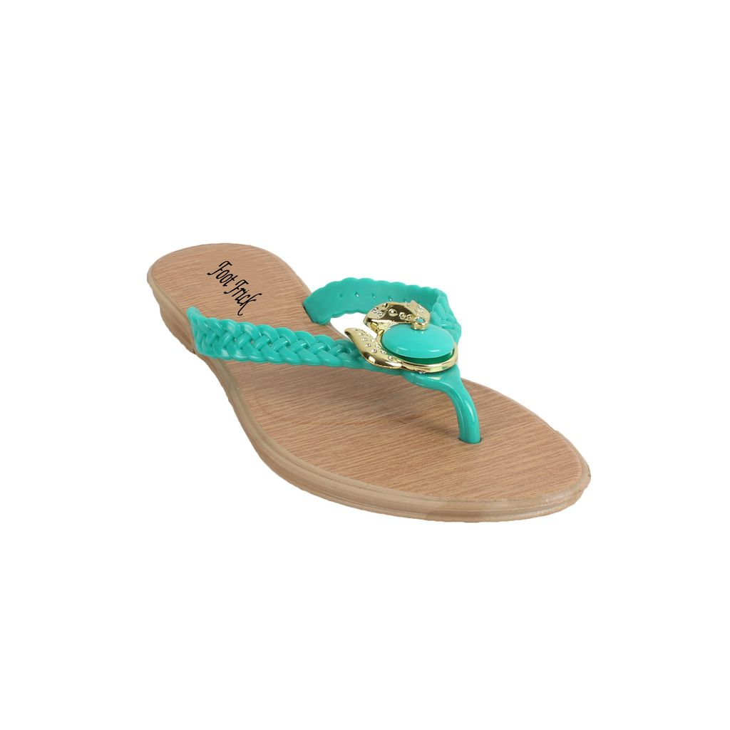 Foot Frick Turquoise Slippers