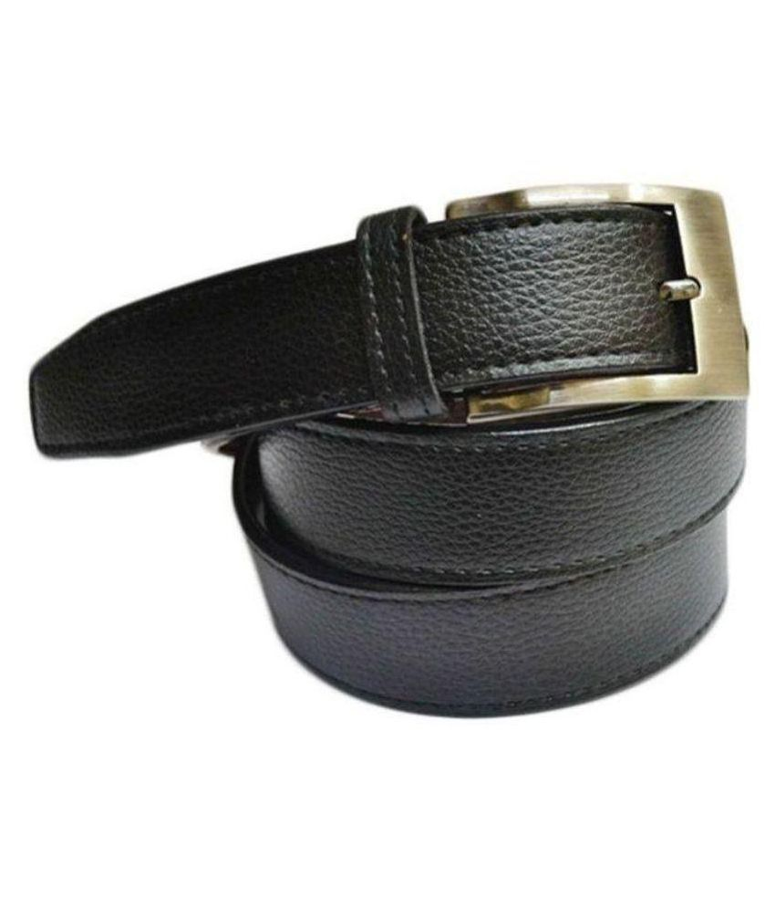 Oodi Black PU Casual Belts