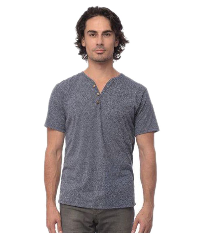 YoloClan Grey Henley T-Shirt
