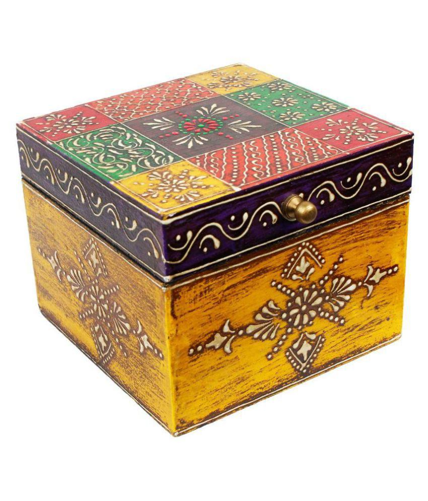 Little Jaipur Multicolour Wooden Jewellery Box