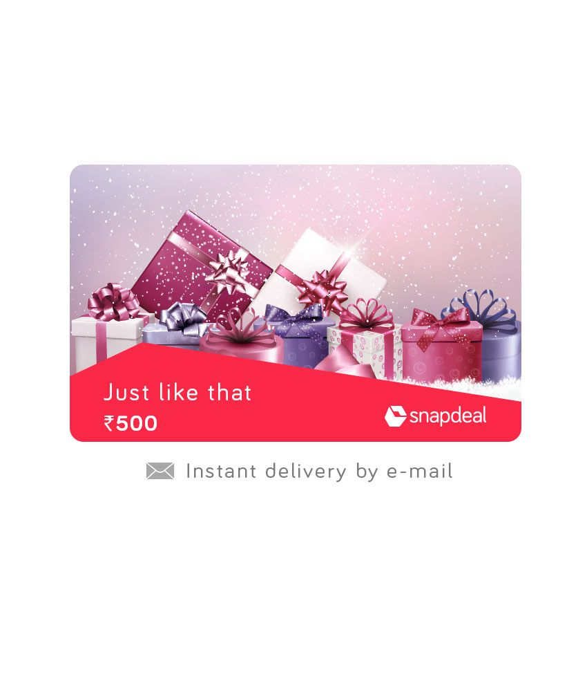 Snapdeal Just Like That E-Gift Card