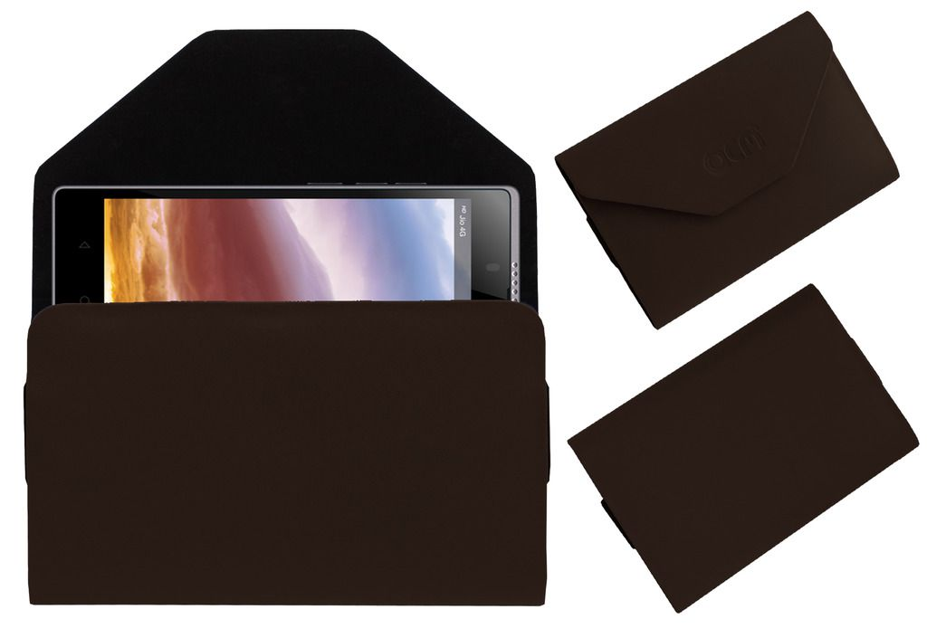 Lyf Wind 7 Premium Pouch Case Cover By Acm Brown