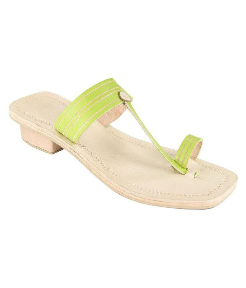 Ekolhapuri Green Block Heels