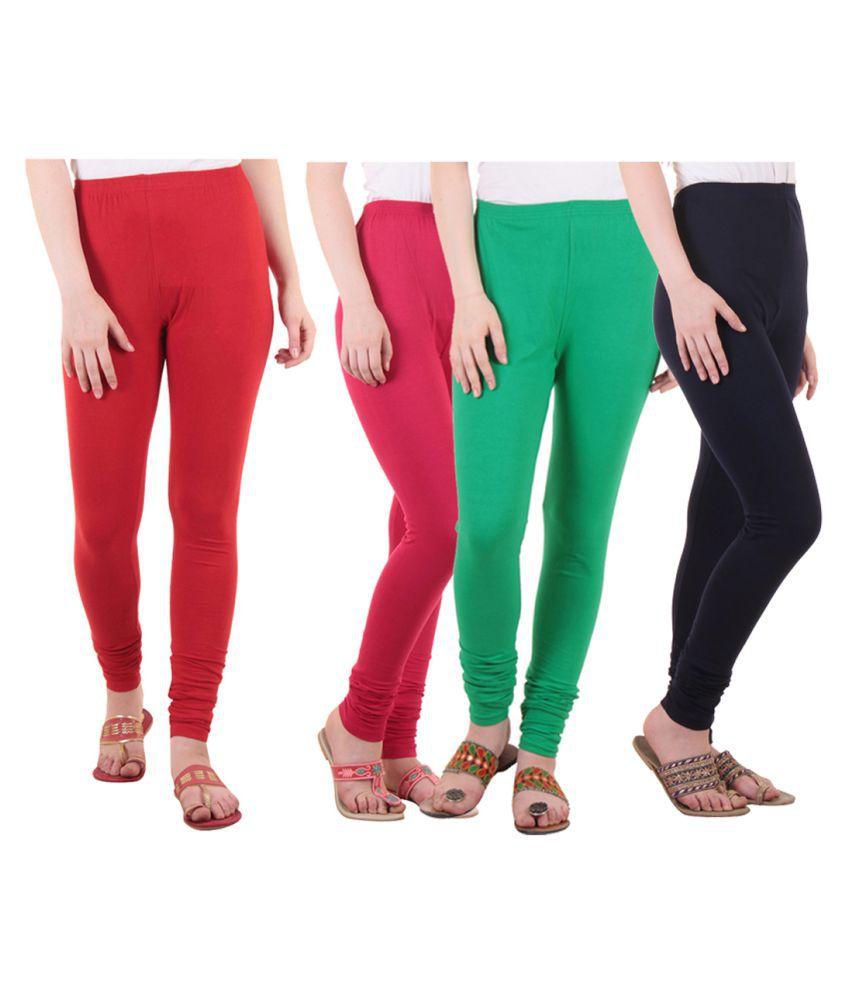 Diaz Cotton Lycra Pack of 4 Leggings