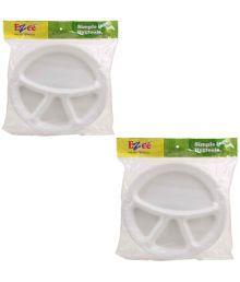 Ezee White Thermocol Plates - 50 Pieces