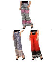 New Fashion Multi Color Rayon Palazzos - 641788139595