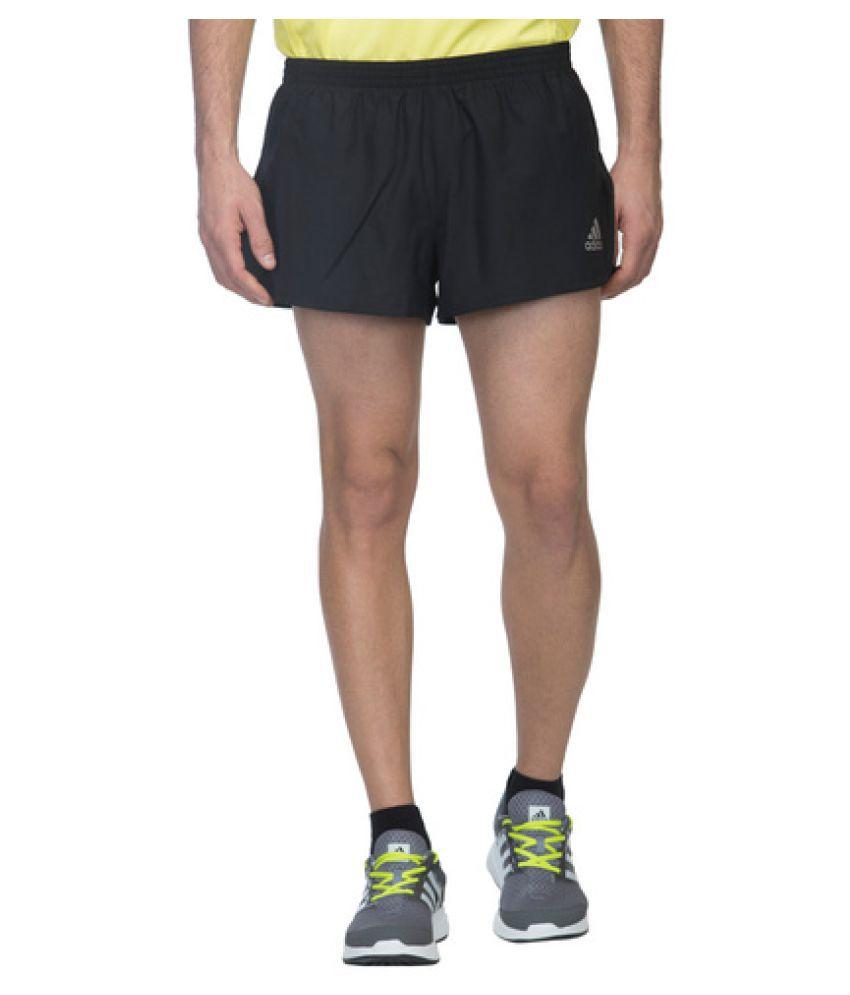 Adidas Black Polyester Shorts