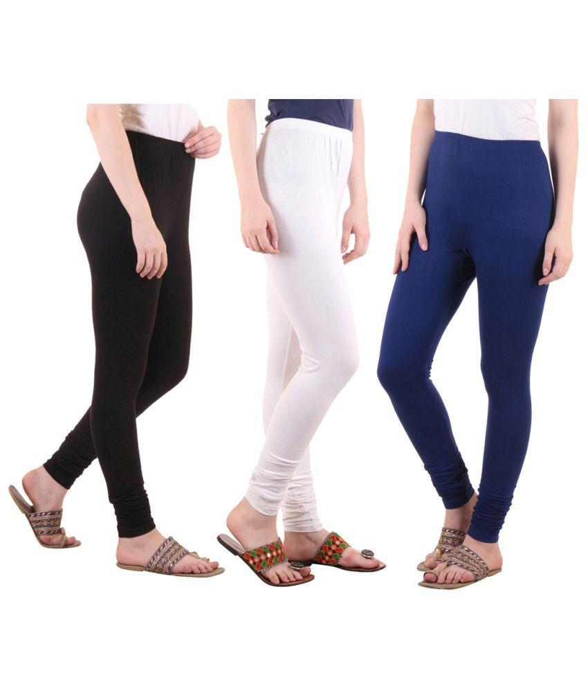 Diaz Cotton Lycra Pack of 3 Leggings
