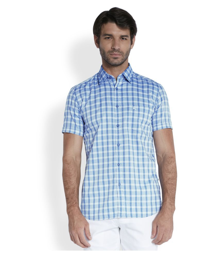Parx Blue Casuals Slim Fit Shirt