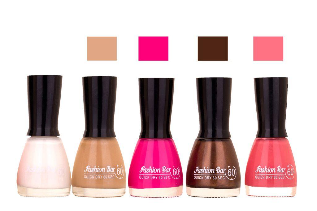 White,Musted,Rani Pink, Dark Brown Pink Shades Nail Polish 145292 ...