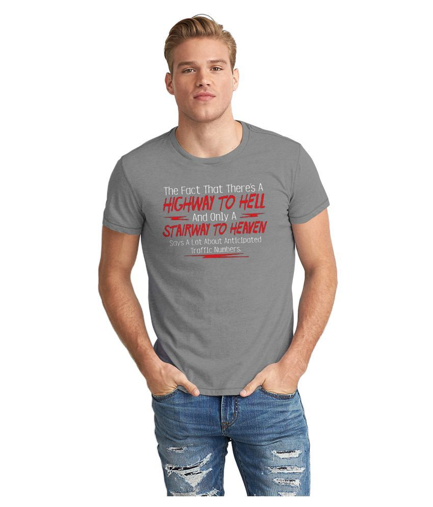 The Fappy Store Grey Round T-Shirt
