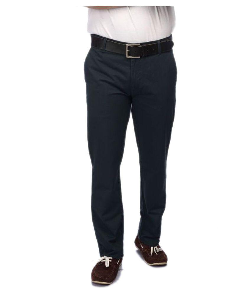 Colorplus Black Regular Flat Trouser